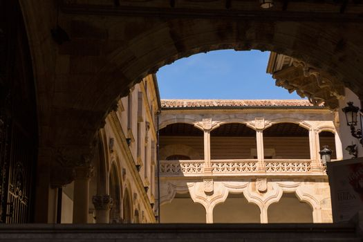Old historic cloister in Salamanca