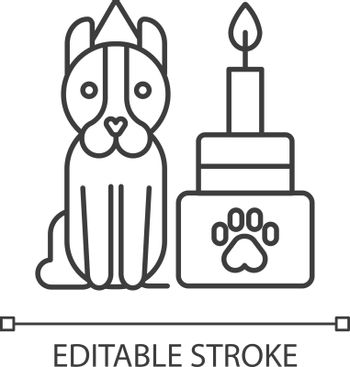 Pet party events organization service linear icon