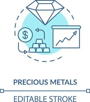 Precious metals concept icon