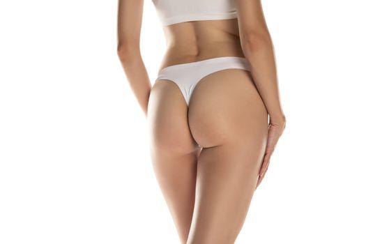 Female bottom with black panties