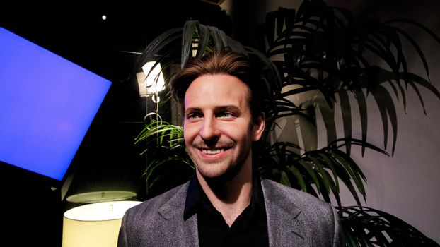 Bradley Charles Cooper wax figure with movie set from HANGOVER movie