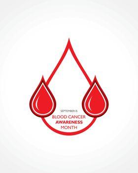 Vector illustration of Blood Cancer Awareness Month observed in September.