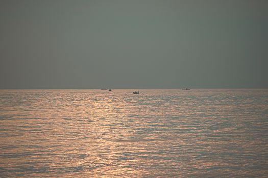 Sunrise at Kovalam beach in the morning