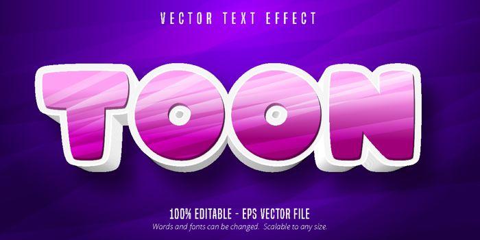 Toon text, cartoon style editable text effect