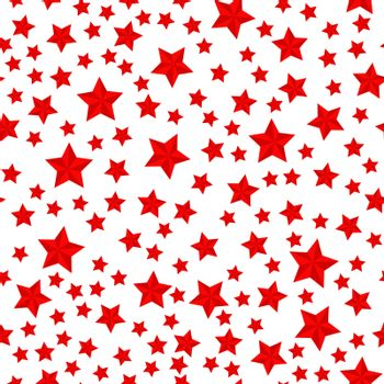 Vector seamless pattern, five-pointed star. Stock illustration f