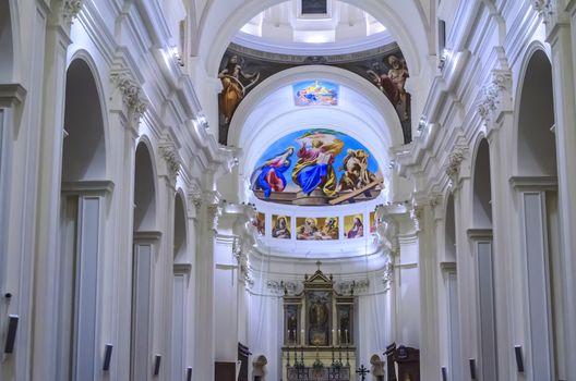 Church interior in the city of noto sicily