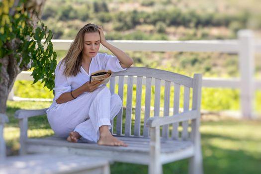 Enjoying Reading Outdoors