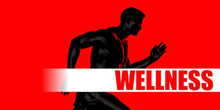 Wellness Concept with Fit Man Running Lifestyle