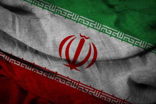 The state flag of coarse fabric Iran