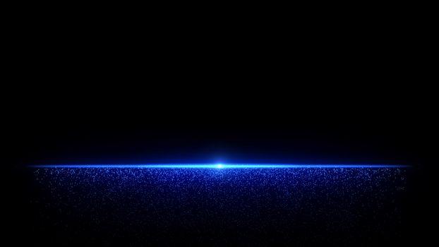 blue dust particle