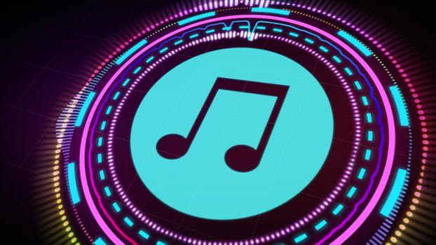 HUD Music equalizer