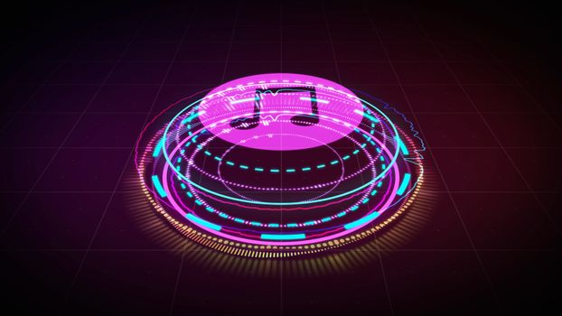 Hologram Music equalizer, music party