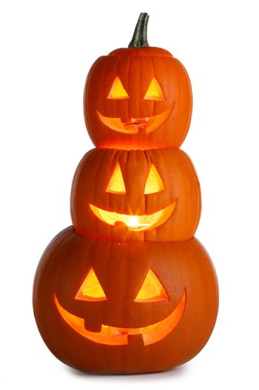 Pile of Carved Halloween Pumpkins