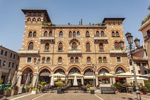 TREVISO, ITALY 13 AUGUST 2020: San Vito square in Treviso