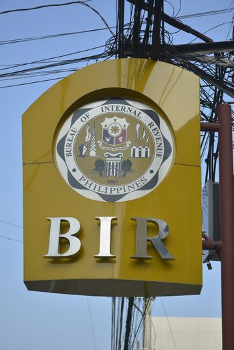 Bureau of internal revenue signage in Mandaluyong, Philippines