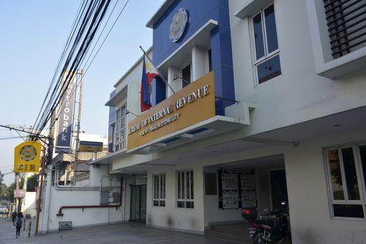 Bureau of internal revenue facade in Mandaluyong, Philippines