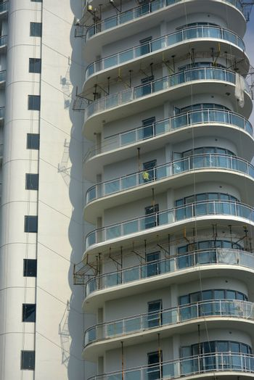 Acqua residences condominium facade in Makati, Philippines