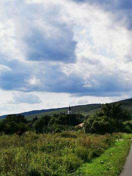 Near Aggtelek church and overged sky