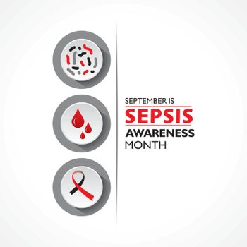 Vector illustration of Sepsis Awareness Month observed in September 13th