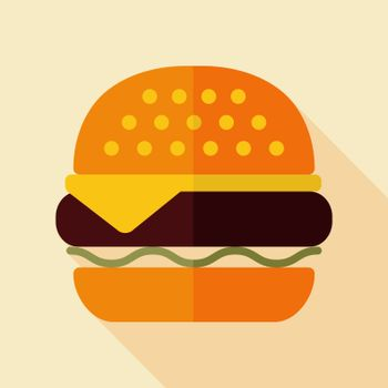 Burger vector icon. Fast food sign. Graph symbol for cooking web site and apps design, logo, app, UI