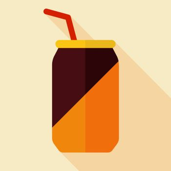 Soda cans vector icon. Fast food sign. Graph symbol for cooking web site and apps design, logo, app, UI