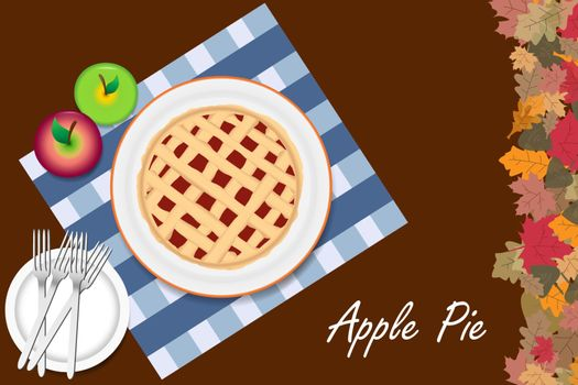 Apple pie is ready to be tasted