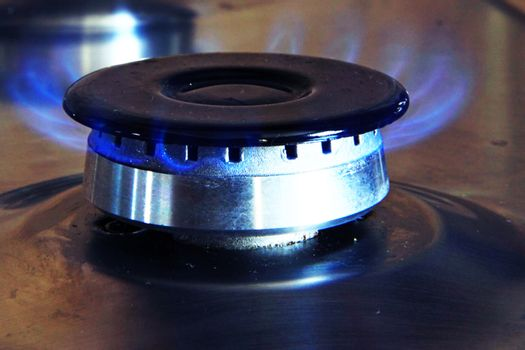 Close-up of gas stove flame