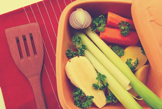 A plate of vegetables with broccoli, and carrot