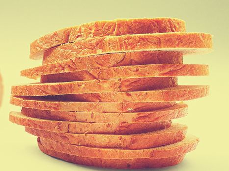 Close-up of bread slices stacked on top of each other