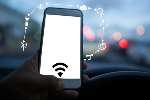 Abstract Use of Smartphones to Find Information and Utilize Technology on Cars.