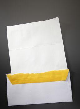 Blank letter from the envelope