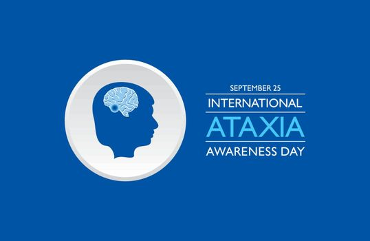 Vector illustration of International Ataxia Awareness Day observed on September 25