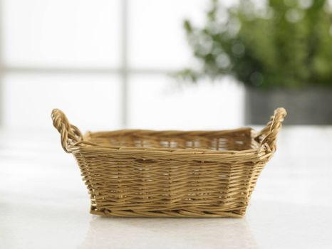 front view of the empty hand towel basket