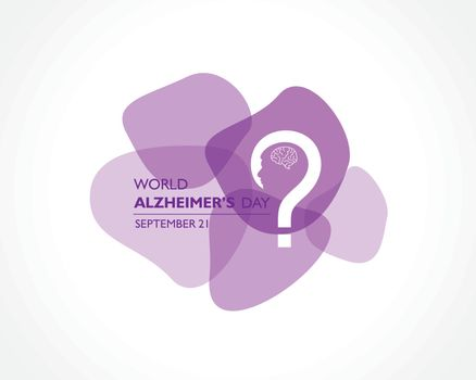 Vector illustration of World Alzheimers Day observed on September 21