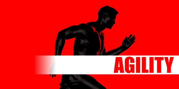 Agility Concept with Fit Man Running Lifestyle