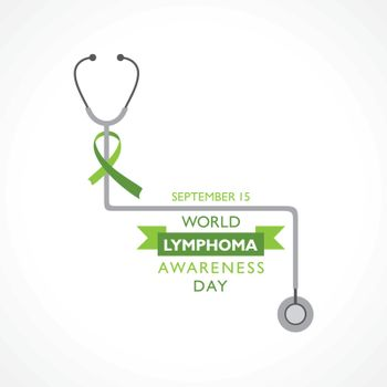 Vector illustration of World Lymphoma Awareness Day observed on September 15th