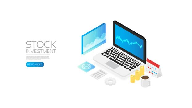 Isometric stock investment, online marketing research