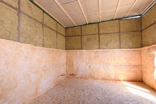 Additional thermal insulation of the house with roll thermal insulation
