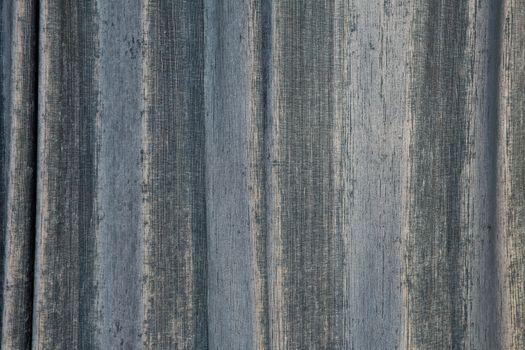 Blue curtains closeup