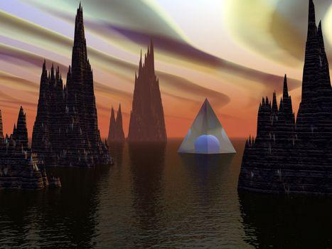 Unreal alien landscape