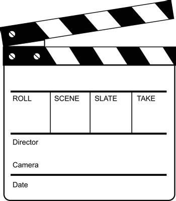 Retro style illustration of a clapperboard, clapper, clapboard or cue card,  a device used in filmmaking and video production to assist in synchronizing of picture and sound done in black and white.