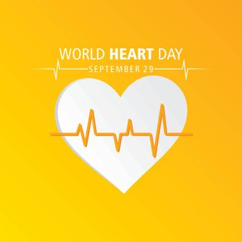 Vector Illustration of World Heart Day observed on 29 September