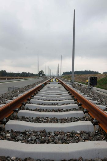 Track construction for public transport, railway traffic and public transportation infrastructure