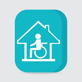 Disabled care, Nursing home sign icon.