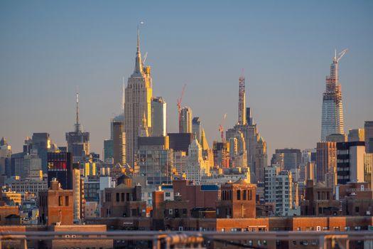 New York City midtown skyline - beautiful cityscape in USA