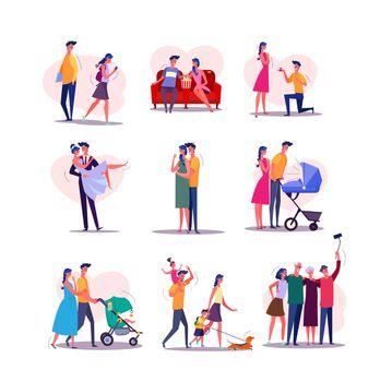 Family life cycle set