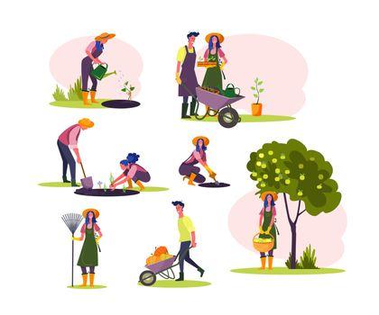 Work in garden set