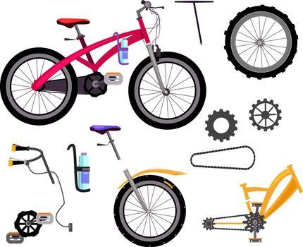 Bicycle details set