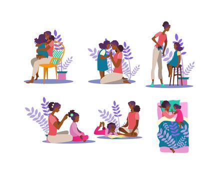 Motherhood illustration set
