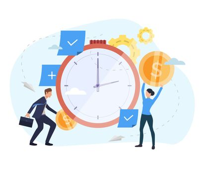 People investing money in watch webpage